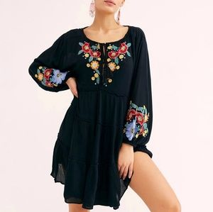 Free People Spell On You mini dress embroidery S